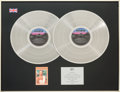 Music Memorabilia:Awards, Whitney Houston BPI (British) Double Platinum Sales Award forWhitney Houston, 1985. ...