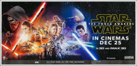 "Star Wars: Episode VII - The Force Awakens (Walt Disney Studios, 2015). Banner (54"" X 81"") 3-D Advance. Scienc..."