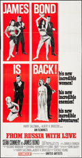 "Movie Posters:James Bond, From Russia with Love (United Artists, 1964). Three Sheet (41"" X 79"") Style B. James Bond.. ..."