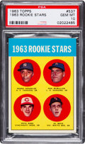 Baseball Cards:Singles (1960-1969), 1963 Topps Pete Rose - 1963 Rookie Stars #537 PSA Gem Mint 10.. ...