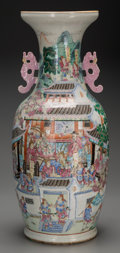 Asian:Chinese, A Large Chinese Famille Rose Porcelain Vase, 19th century. 24-1/2inches high (62.2 cm). PROPERTY FROM THE ESTATE OF JULES...