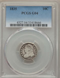 Bust Dimes: , 1835 10C Good 4 PCGS. PCGS Population (6/818). NGC Census: (5/529).Mintage: 1,410,000. Numismedia Wsl. Price for problem f...