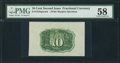 Fractional Currency:Second Issue, Fr. 1244SP 10¢ Second Issue Wide Margin Back PMG Choice About Unc 58.. ...