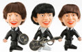 Memorabilia:Beatles, The Beatles Caricature Dolls Group of 3 (Remco, 1964).... (Total: 4Items)
