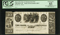 Obsoletes By State:Arkansas, Little Rock, AR - Bank of the State of Arkansas Post Note $10 G54 Proof. ...