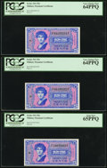 Military Payment Certificates:Series 541, Series 541 25¢ Five Examples PCGS Very Choice New 64PPQ or better.. ... (Total: 5 notes)