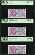 Military Payment Certificates:Series 641, Series 641 5¢ Five Examples PCGS Gem New 65PPQ or better.. ...(Total: 5 notes)