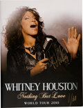 "Music Memorabilia:Autographs and Signed Items, Whitney Houston Signed & Hand-Numbered ""Nothing But Love"" TourBook, 2010...."