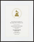 "Music Memorabilia:Awards, Whitney Houston & David Foster NARAS Recognition Certificatefor ""I Will Always Love You"", 1993...."
