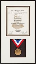 "Music Memorabilia:Awards, Whitney Houston National Academy of Recording Arts & SciencesNomination Medal and Certificate for ""I'm Your Baby Tonight,"" 19..."