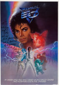 "Music Memorabilia:Autographs and Signed Items, Whitney Houston - Michael Jackson Signed and Inscribed ""Captain EO""Color Poster, circa 1992...."