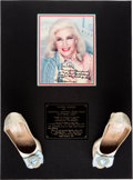 Music Memorabilia:Memorabilia, Whitney Houston - Ginger Rogers' Signed Dancing Shoes Worn In TheStage Show Anything Goes, 1980....