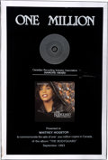 "Music Memorabilia:Awards, Whitney Houston Canadian ""Diamond"" Award for The Bodyguard:Original Soundtrack Album, 1993...."