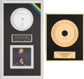 "Music Memorabilia:Awards, Whitney Houston IFPI (Swedish) Sales Awards (Two): Gold for ""I'mYour Baby Tonight,"" 1990 [and] Platinum for My Love Is ...(Total: 2 Items)"