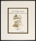Music Memorabilia:Awards, Whitney Houston National Academy of Recording Arts & SciencesNomination Certificate for Whitney, 1987....