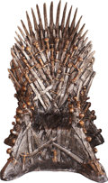 "Movie/TV Memorabilia:Props, An Enormous Exact Replica Iron Throne Related to ""Game ofThrones.""..."