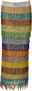 Music Memorabilia:Costumes, Whitney Houston Stage-Worn Dolce & Gabbana Fringe Skirt,1999....
