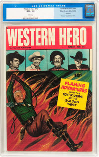 Western Hero #76 Mile High Pedigree (Fawcett Publications, 1949) CGC NM+ 9.6 White pages