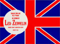 Music Memorabilia:Posters, Led Zeppelin Tarrant County Convention Center Concert Handbill(Concerts West, 1970)....