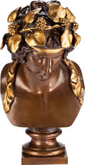 Movie/TV Memorabilia:Original Art, A Sylvester Stallone-Owned Patinated and Gilt Bronze Bust ofApollo, 20th Century....