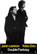 Music Memorabilia:Memorabilia, Beatles - John Lennon / Yoko Ono Double Fantasy Promotional Stand-Up (1980)....