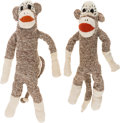 "Movie/TV Memorabilia:Props, A Pair of Sock Monkey Dolls from ""Twin Peaks.""..."