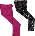 "Music Memorabilia:Costumes, New York Dolls - An Arthur ""Killer"" Kane Group of Stage-Worn Pants(Circa 1980s).... (Total: 2 Items)"
