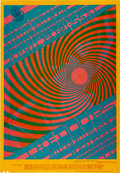 "Music Memorabilia:Posters, Doors ""Swirley"" Avalon Ballroom Concert Poster FD-57 Signed ByVictor Moscoso (Family Dog, 1967)...."