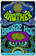 Music Memorabilia:Posters, Big Brother and the Holding Company/ Bronze Hog Santa Rosa ConcertPoster (Golden Star, 1968)....