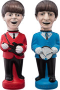 Music Memorabilia:Memorabilia, Beatles - Paul and Ringo Bubble Bath Dolls by Colgate-Palmolive (US, 1965)....