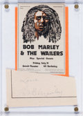 Music Memorabilia:Autographs and Signed Items, Bob Marley Signature, 1970s....