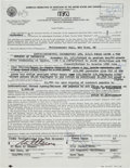 Music Memorabilia:Autographs and Signed Items, Frank Zappa Signed Philharmonic Hall Contract (1973)....
