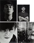 Music Memorabilia:Photos, Beatles - Four Astrid Kirchherr Signed Photos (1960-62)....