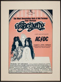 Music Memorabilia:Posters, Aerosmith with AC/DC Rushmore Plaza Concert Poster (1978)....