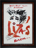Music Memorabilia:Autographs and Signed Items, Liza Minelli Signed Poster. ...
