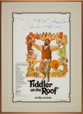 "Movie/TV Memorabilia:Autographs and Signed Items, A Chaim Topol Signed Poster from ""Fiddler on the Roof.""..."