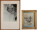 Movie/TV Memorabilia:Photos, A Mae West Pair of Black and White Photographs, 1930s.... (Total: 2Items)