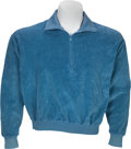 Music Memorabilia:Costumes, Elvis Presley Worn Blue Velour Shirt from the Film GirlHappy (MGM, 1965)....
