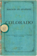 Books:Americana & American History, [The Territorial Board of Immigration]. Resources and Advantages ofColorado....