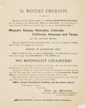 Miscellaneous:Broadside, Ohio & Mississippi Railway Broadside: To Western Emigrants....