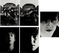 Music Memorabilia:Photos, Beatles - Five Early Photos Signed by Astrid Kirchherr (Hamburg,1962)....