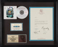 Music Memorabilia:Autographs and Signed Items, Queen Innuendo RIAA Gold Sales Award with Signed Letter (Hollywood HR-61020-2, 1991)....