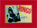 Music Memorabilia:Autographs and Signed Items, Beatles - Ringo Starr Signed Large Photo in Matted Display....