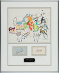 Music Memorabilia:Autographs and Signed Items, Crosby, Stills, Nash and Young Signatures in Framed Display....