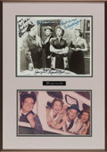 "Movie/TV Memorabilia:Autographs and Signed Items, A Black and White Signed Photograph from ""The Honeymooners.""..."