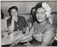 Music Memorabilia:Autographs and Signed Items, Billie Holiday Signed Photograph (circa early 1950s)....