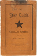 Books:Americana & American History, [G.E. Merrill and A.J. Denton]. The Star Guide Colorado Springs andits Environs....