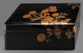 Asian:Japanese, A Japanese Lacquered Ryoshibako (Document Box) with Cover,late Meiji to early Taisho Period. 6-1/2 h x 16-1/2 w...