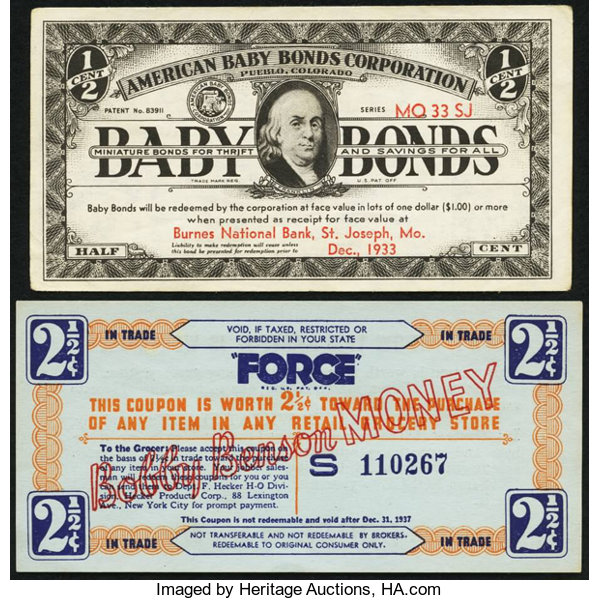 Miscellaneous Pueblo Co American Baby Bonds Corporation 1 2 Dec 1933