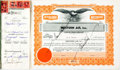 Miscellaneous, Western Air, Inc. Stock Certificate Book....